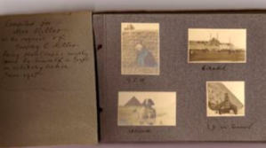 The first page of the photograph albumn Miller sent to my grandmother, Mera.